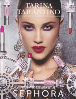2010 TARINA TARANTINO LIPSTICK Mag. Print Ad SEPHORA