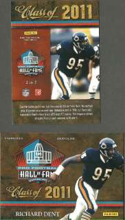 RICHARD DENT   2011 Pro Football Hall of Fame CANTON HOF EXCLUSIVE