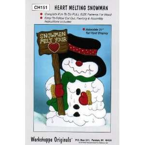 Snowman Christmas Yard Art Woodworking Pattern: Arts, Crafts & Sewing