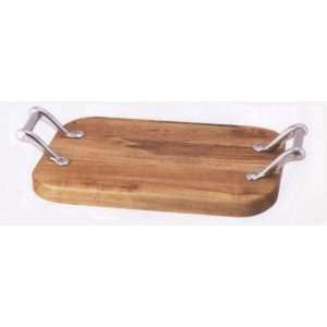 Woodbury Pewter Cutting Board w/Pistol Handle   7 in. x 10