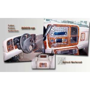 , SILVERADO 2003 2006 Wood Grain Dash Trim Kit Everything Else