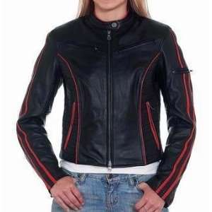 Womens Motorcycle Jackets, Womens Leather Motorcycle Jacket, Black