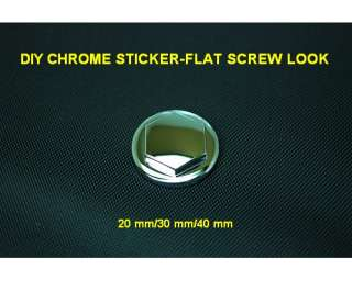 DIY PYRAMID CHROME DECORATIVE EMBLEM STICKER DECAL