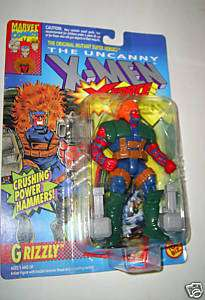 MEN X FORCE   1993 GRIZZLY MOC marvel toy biz