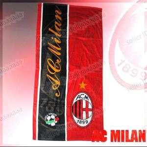 Football Club Team AC Milan FC Soccer Beach Bath Towel 56x29