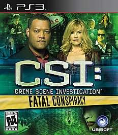CSI Crime Scene Investigation   Fatal Conspiracy Sony Playstation 3