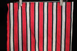 RARE DEADSTOCK VINTAGE 1950S RED, BLACK & SILVER SHIRT FABRIC 4 YDS X