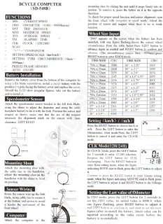 LCD Bicycle Bike Computer Odometer SPEEDOMETER #258