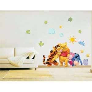 Winnie the Pooh & Friends Peel & Stick Nursery Kids Room Wall Art