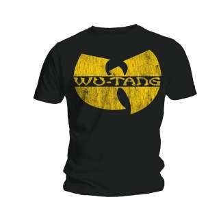 Wu Tang Clan Distressed Logo T Shirt NEW