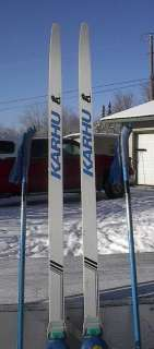 Cross Country 79 Skis SNS 205 cm KARHU +Poles + Boots Size 12