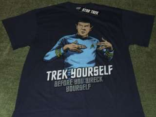 COOL RETRO OFFICIAL STAR TREK SPOCK TREK YOURSELF GRAPHIC T SHIRT L