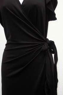 LEON MAX INC Womens Black Wrap Dress Size XL 9V00G52K NWT MSRP 69.98