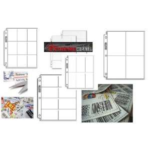 Ultra Pro Coupon Saver Starter Pack / Coupon Binder Storage Pages (5