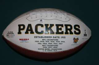 Bart Starr Autographed Green Bay Packers Logo Football   COA