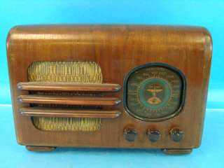 Rare Firestone Air Chief 7422 Deco Wood Table Top Antique Tube Radio