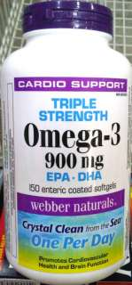 WEBBER NATURALS Triple Strength Omega 3 900 mg EPA DHA