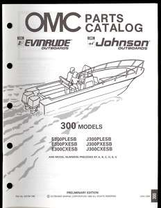 1990 JOHNSON / EVINRUDE 300 HP OUTBOARD PARTS MANUAL