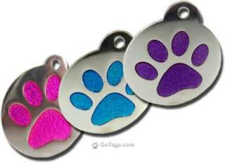 Glitter Engraved Pet Tags for Dog and cats Custom, Personalized