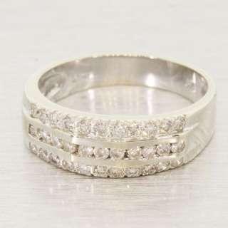 Elegant Sparkling 14K White Gold Diamond Wedding Anniversary Vintage