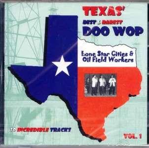 Texas Best and Rarest Doo Wop CD   Vol 1 NEW/SEALED 30 Tracks |