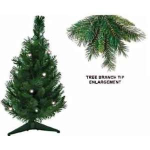 21 Inch Mixed Needle Small Prelit Artificial Miniature Christmas Trees