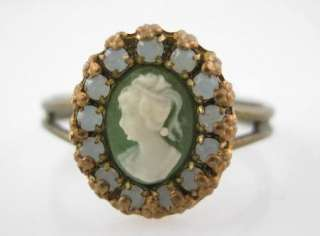 Description You are bidding on a MICHAEL NEGRIN Green Cameo Earrings