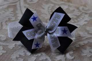 Baby Girls Navy Blue DALLAS COWBOYS HAIR BOW headband