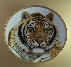 Great Cats of the World SIBERIAN TIGER Cat Plate LENOX