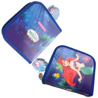 ARIEL Little Mermaid 24 CD DVD Organizer Case Blue NIP