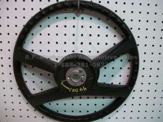 Truck Black 4 spoke bolt on horn pad Interior Steering Wheel