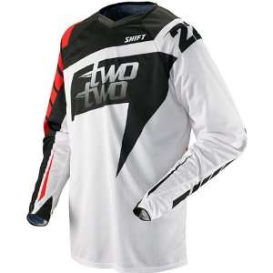 Replica Mens Off Road/Dirt Bike Motorcycle Jersey   White/Red / Small