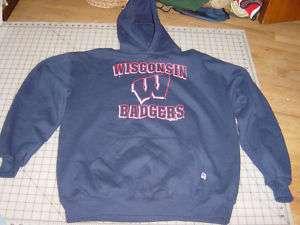 Wisconsin badgers hoodie sweatshirt dark blue mens XL