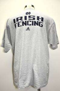 Adidas Miami Heat Basketball Notre Dame Fighting Irish T Shirt Gray Sz
