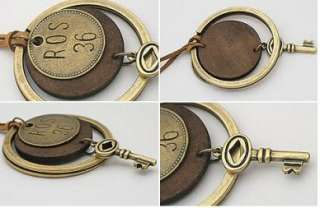 H4789 New Fashion Jewelry Retro key ring combined sweater chain