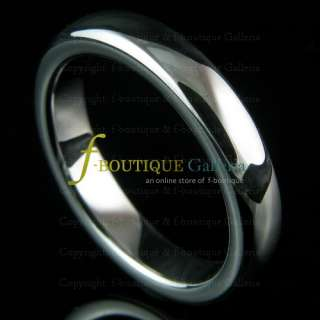 4MM TUNGSTEN CARBIDE SILVER TONE WEDDING BAND RING NEW