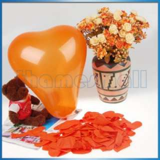 100 Heart Shaped Balloon Wedding Party Favors Decor 12