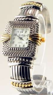 BELLA Ladies Quartz WATCH with MOTHER OF PEARL Dial and CUFF Bracelet