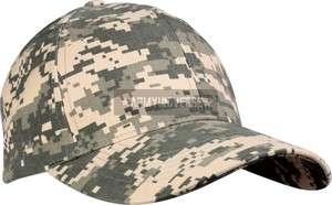 ACU Digital Camouflage Army Supreme Low Profile Adjustable Cap