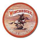 Nice Plain Round Winchester Ammunition Metal Sign