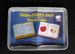 Wilton BOOK Party Cake Pan, 1977, # 502 7466, Retired |