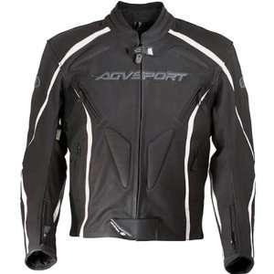 AGV Sport Dragon Mens Leather Street Motorcycle Jacket   Black / Size