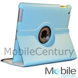 The new iPad 3 magnetic smart cover case rotating stand . Perfect fit