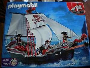 NIB PLAYMOBIL 5950 Pirate Ship Skull and Cross Bones *