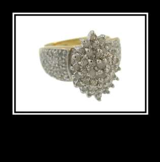 10K Solid Two Tone Gold Diamond Fashion Wedding Ring