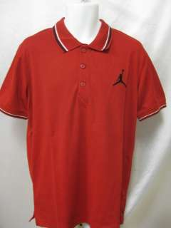 JORDAN MENS SKYLINE POLO Varsity Red/Black  451661 648