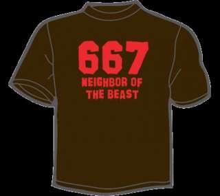 667 NEIGHBOR OF THE BEAST T Shirt WOMENS funny vtg 666
