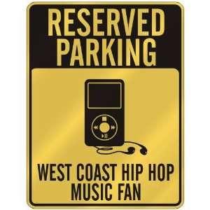 WEST COAST HIP HOP MUSIC FAN  PARKING SIGN MUSIC