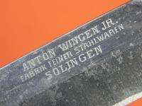 German Germany WW1 ANTON WINGEN JR Solingen Huge Fighting Knife W