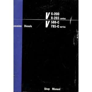 785 C Series Shop Manual Cummins Engine Company  Books